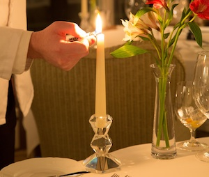 Valentines Day meal at the Airds hotel, Argyll, West Coast Scotland