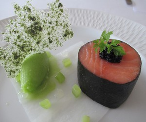 Salmon starter served at a Gourmet Break in Argyll at The Airds Hotel & Restaurant