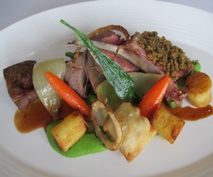 Sunday lunch near Oban, Argyll at the Airds Hotel & Restaurant - Lamb main course