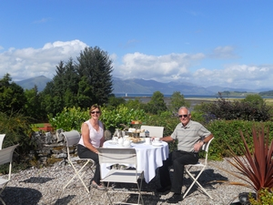 S Airds Hotel Scotland Airds Hotel view from terrace - a luxury country house hotel near Oban ...