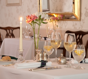 Dining room at fine dining restaurant in Argyll - Airds Hotel & Restaurant