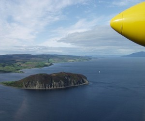 View from flight to inner Hebridean Islands