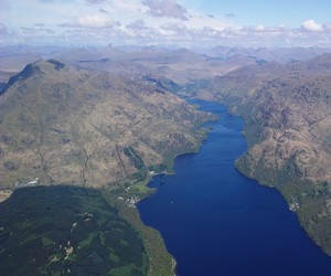 View of West Coast of Scotland from sightseeing flight