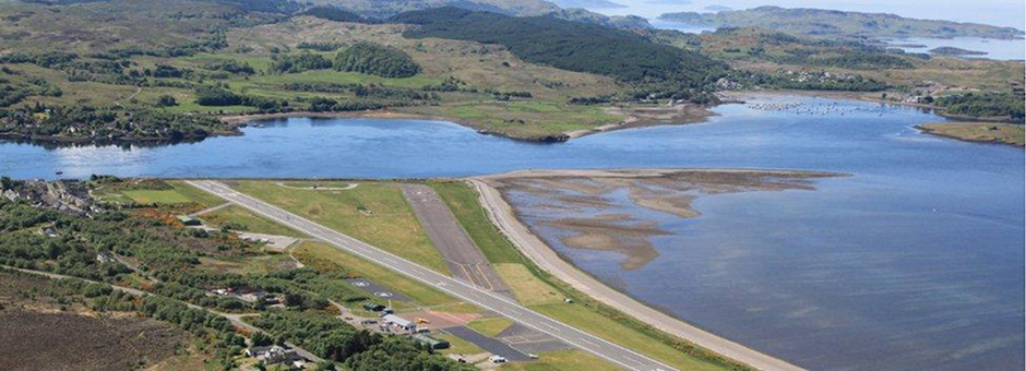 Oban Airport - scenic flights operate from here to the Hebridean Islands