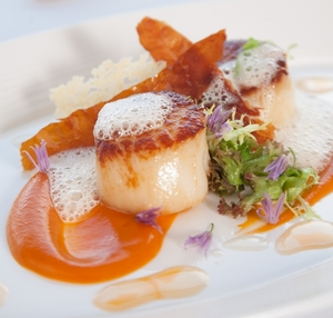 Locally caught scallops are popular at Airds Hotel