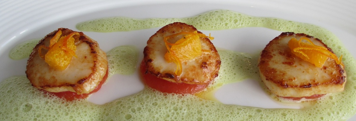 Sample Tasting menu - Scallops