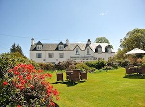 The Airds Hotel bathed in glorious summer weather - Port Appin, Argyll, Scotland